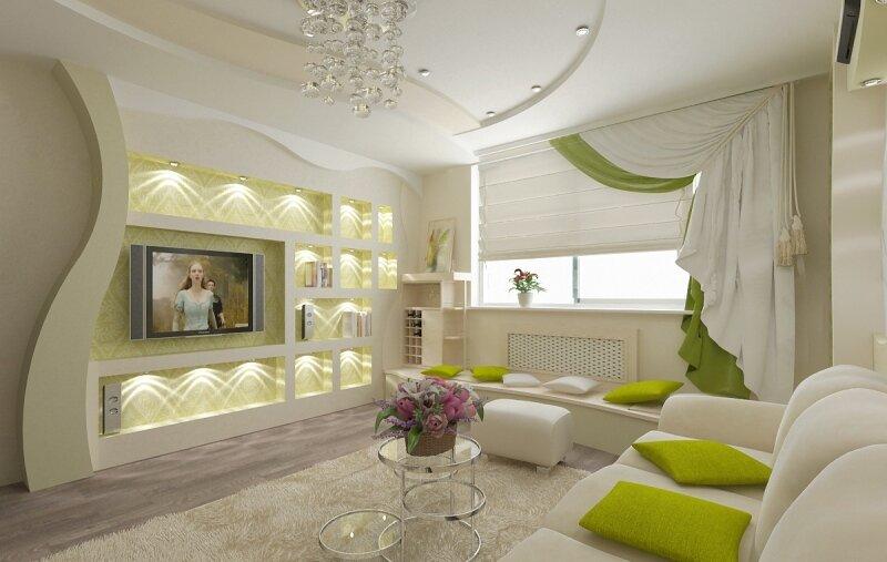 Интерьер гостиной комнаты для дома или квартиры