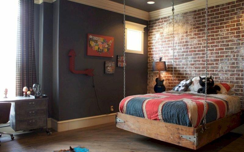 Дизайн комнаты для подростка в современном стиле лофт
